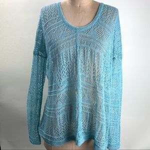 Free people mint green light sweater